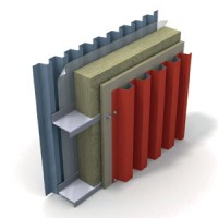 Вентилируемая фасадная система.