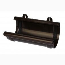 Соеденитель желоба, 125 мм, Roofix, тёмно-коричневый RAL 8019